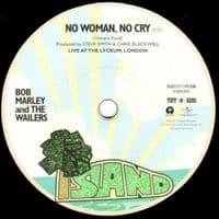 BOB MARLEY AND THE WAILERS No Woman, No Cry Vinyl Record 7 Inch Island 2016